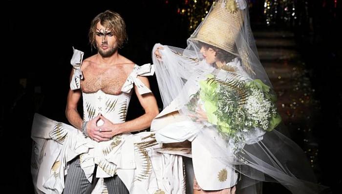 Le bouquet de la mariée Vivienne Westwood par Luc Gaignard