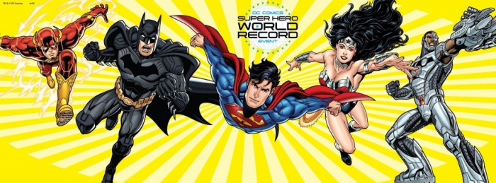 Participez au record du monde des super héros DC Comics