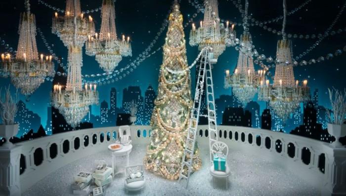 La magie des vitrines de Noël de Tiffany & Co New York