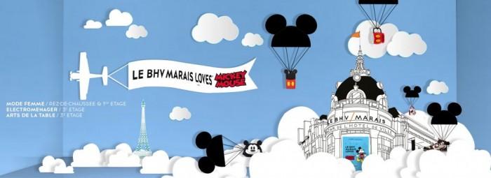 Le BHV Marais loves Mickey Mouse