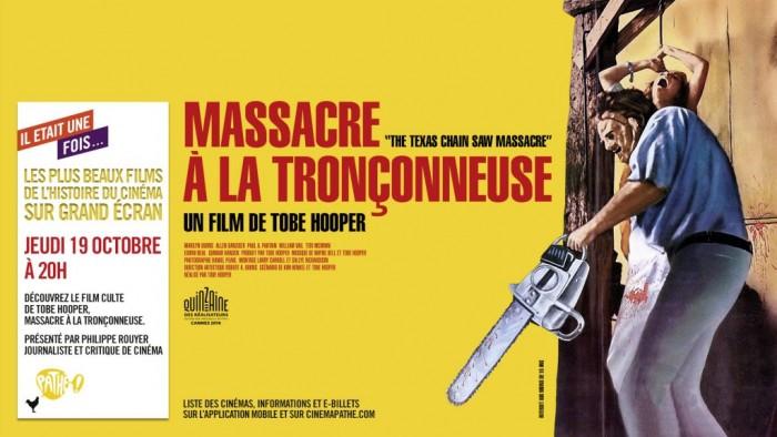 Le film culte Massacre à la tronçonneuse dans les cinémas Gaumont et Pathé